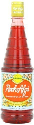 Hamdard Rooh Afza Sharbat Syrup, Rose, 25 fl.oz  (Packaging may Vary)