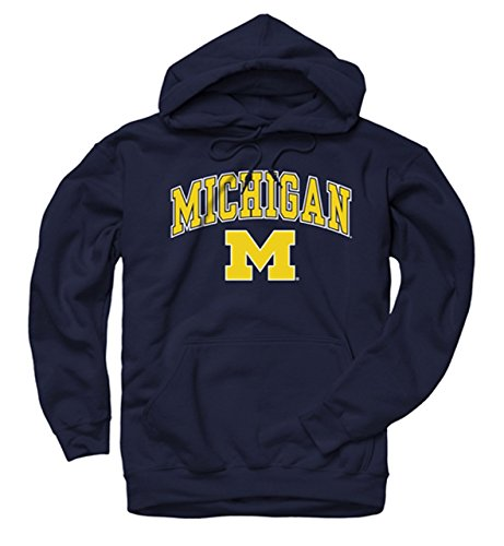 (Campus Colors Michigan Wolverine Midsize Logo Hooded Sweatshirt, Medium)