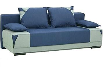 EVITA Moderno cómodo Azul Tela sofá Cama sofá con Zona de ...