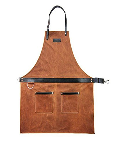 7e73c588b5 VAHOME Waxed Canvas Heavy Duty Work Apron with Pockets Painting Home Shop  Kitchen Cooking Garden Tool Apron for Men and Women