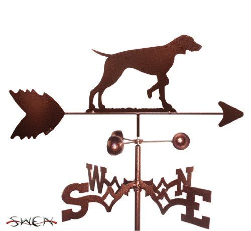 Hand Made VIZSLA DOG GARDEN Stake Weathervane ~NEW~