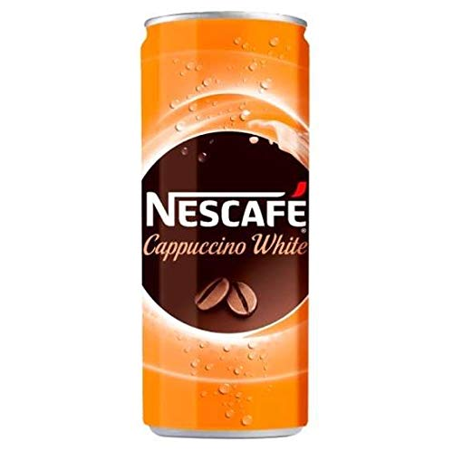 Nescafe Cappuccino White  Ready to Drink Coffee - 12 Cans X 250 ml