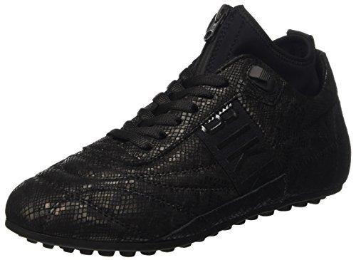 Bikkembergs Soccer 773 Shoe W Leather/Lycra, Scarpe Low-Top Donna Nero (Croco Print)