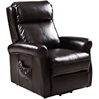 Giantex Power Lift Chair Recliners For Elderly with Remote Living Room Furniture, Brown