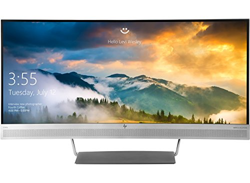 HP EliteDisplay S340C - LED monitor - curved - 34' (34' viewable) - 3440 x 1440 - 300 cd/m² - 3000:1 - 6.1 ms - HDMI, DisplayPort, USB-C - speakers - black, silver