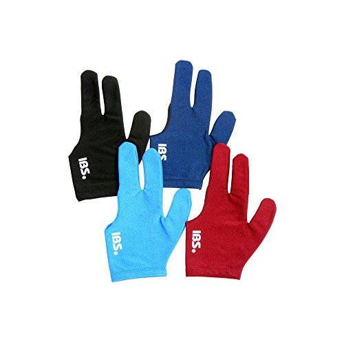 IBS Three Fingers Billiard Glove Snooker Cue Professional Spandex 4 Colors