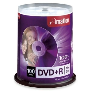 Imation 16x DVD+R 4.7GB 100 Pack Spindle by Imation