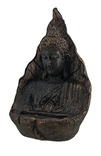 Zeckos Antique Blackened Bronze Finish Buddha Business Card Holder