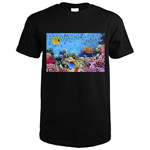 Hanauma Bay, Hawai'i - Fish and Coral 3 (Black T-Shirt - Hawaii Coral Black