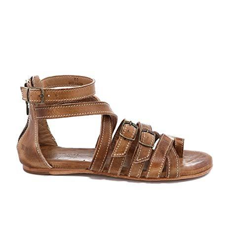 Bed|Stu Women's Miya Leather Sandal (9 M US, Tan Rustic)