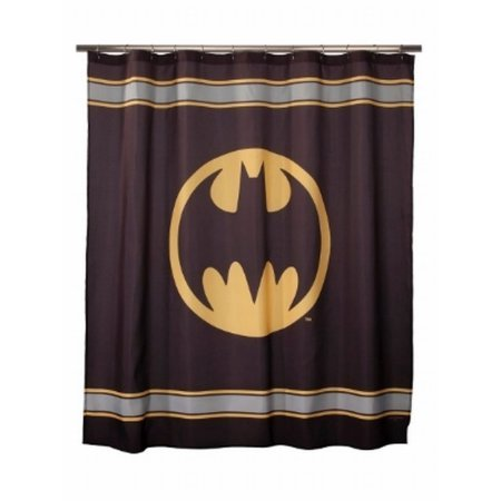 Batman Bathroom Set - Includes Shower Curtain, Hooks, Foam Bath Rug, Wastebasket, and Bath Towel by Franco