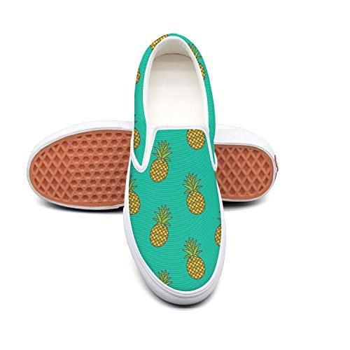 PDAQS Women Pineapple Graphic Printed loafers tenis shoes low top