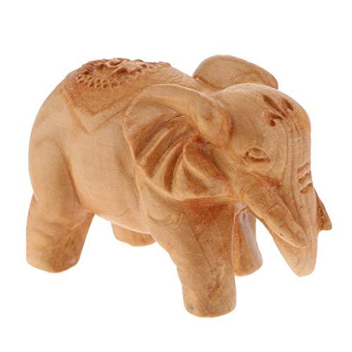 LOVIVER Wooden Elephant Buddha Ornaments Table Statue Handicrafts Kids Toy Xmas Gift - Elephant (Wooden Elephant Ornaments)