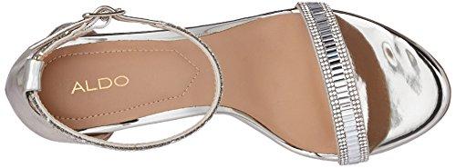 Sandal B Women 5 US Silver 7 Aldo Sevoredia Dress qvS7WUw