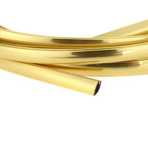 - Kingzer 4m U Shape Air Vent CAR Grille Switch Rim Grille Chrome Trim Strip Moulding Gold