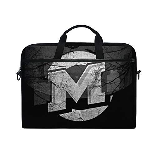 IMOBABY Noche De Brujas Halloween Laptop Bag Canvas Messenger Shoulder Bag Briefcase Fits 15-15.4 -