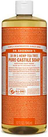 Dr. Bronners Fair Trade & Organic Castile Liquid Soap - (Tea Tree, 32 oz)