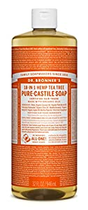 Dr. Bronner's Pure-castile Liquid Soap - Fair Trade & Organic 1 Count , Tea Tree, 32 Ounce