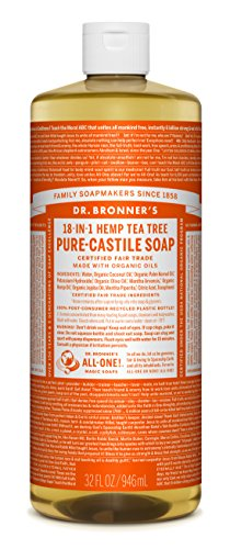 Dr. Bronner's Pure-Castile Liquid Soap – Tea Tree 32oz.