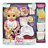 : Caucasian Baby Alive Doll Learns to Potty & Bonus Value Pack
