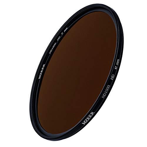 MZEER 67mm ND 1000 Filter Slim Neutral Density Filter for Camera Lenses ND 3.0 67mm (10-Stops) Japanese Optical Glass Landscape Photography Equipment