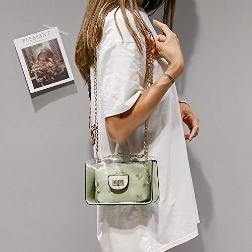 Green única talla Blanco mujer al para Tea Bolso hombro MANYYSI nYqfaf