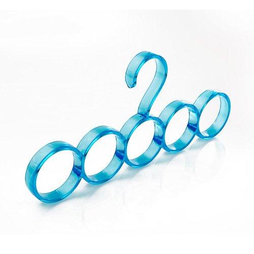PuMaple 10pcs, Plastic 5 Ring Scarf Hanger Organiser Holder