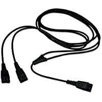 Jabra GN Y-Training Cord #8312-009 (Observation- Live/Mute version), Compatible with Jabra, Liberation and GN Netcom Headsets | Quick Disconnect | Use for Coaching, Supervising, Training, Monitoring