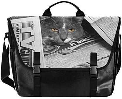 メッセンジャーバッグ メンズ 猫 雑誌 グレー 斜めがけ 肩掛け カバン 大きめ キャンバス アウトドア 大容量 軽い おしゃれ