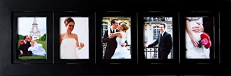 Collage Picture Frames 5x7 Frame With 5 Openings Black Woodmulti