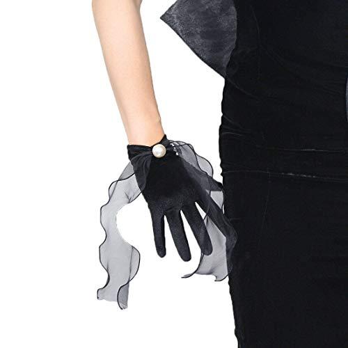 Satin Silk Gloves Wrist...