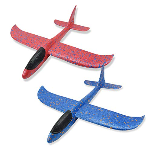 MChoice❤️Foam Throwing Glider Airplane Inertia Aircraft Toy Hand Launch Airplane Model]()