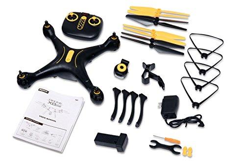 41mJlI10Y2L - Tenergy Syma X8SW Wi-Fi FPV Quadcopter Drone 720P HD Camera Altitude Hold RC 2.4G 4CH 6 Axis, Black/Yellow