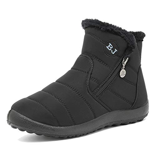 CIOR Mens and Womens Snow Boots Winter Warm Ankle Booties Fur Lined Outdoor Anti-Slip Shoes