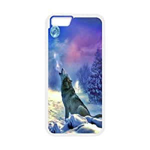 "[Tony-Wilson Phone Case] For Apple Iphone 6,4.7"" screen -IKAI0447724-Wolf,Wolves and Moon Pattern"