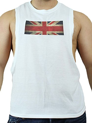 GBGB Mens C Muscle UK T-Shirt White - Sports Uk Gay Co