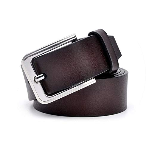Cowhide Leather Mens Belts for Men Strap One Layer Leather Male Pin Buckle Fancy Vintage Cowboy Jeans -