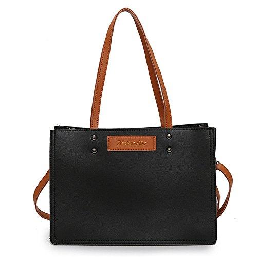 Gwqgz 2018 New Women Pu Black Bag Green