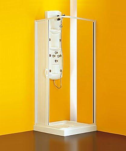 Box ducha angular, talla CM.80/60 x 80/60, cabina de fuelle color ...