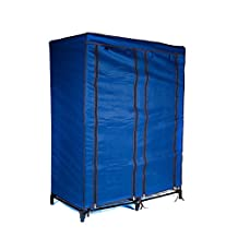 Everyday Home Clothes Closet Portable Wardrobe with Shelves-Blue