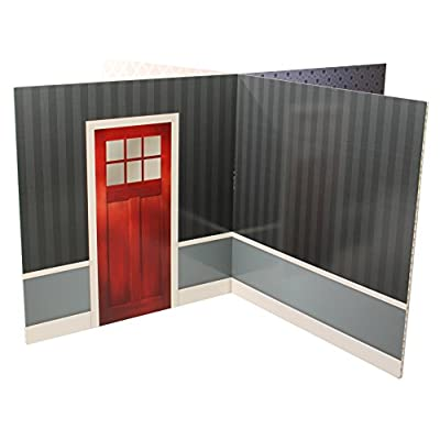 Fundeco House Doll Backdrop, Multicolored: Home & Kitchen