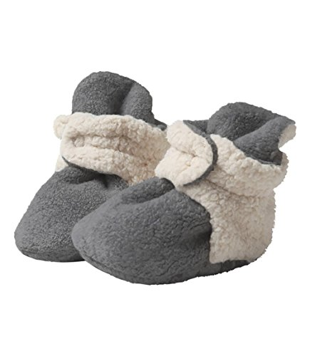 Zutano Unisex Baby Fleece w/Furry Baby Booties, 6M,Gray Furry