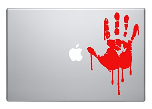 Bloody hand Blood horror scary cool - easy to apply wall vinyl sticker fun and cool for home improvement and decorations can also be used on Laptops macbooks, cars and windows makes a great birthday present and halloween