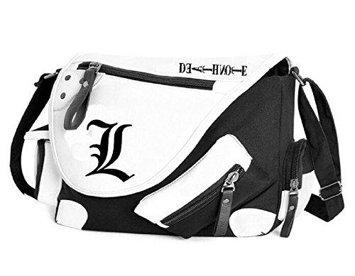 Siawasey Death Note Anime L Cosplay Backpack Handbag Messenger Bag Shoulder Bag