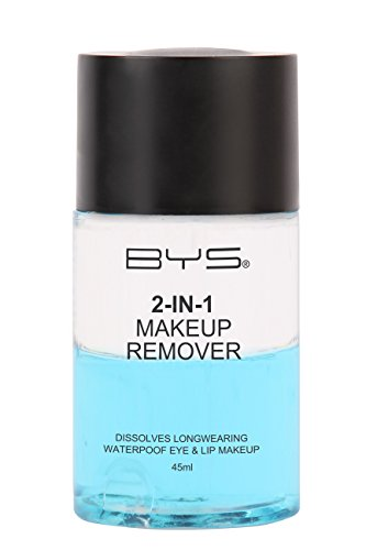 Action Remover Makeup Dual (BYS 2-In-1 Makeup Remover - Instantly Dissolve Longwearing and Waterproof Eye and Lip Makeup, Paraben Free, 45Ml dual action formula consists of both water and oil working together to remove makeup)