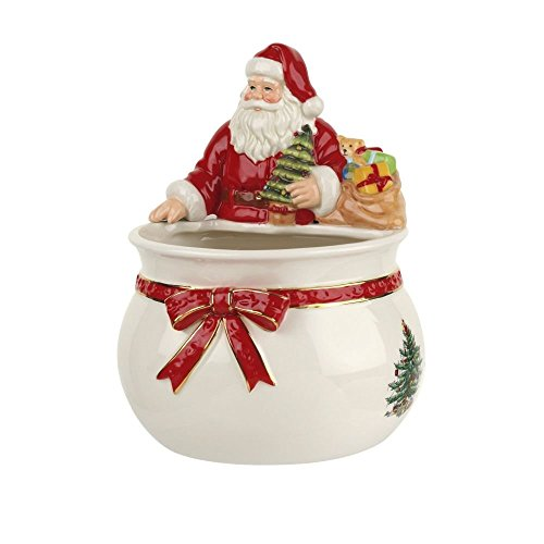 Spode Christmas Tree Santa Candy Bowl (Renewed)