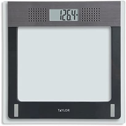 Taylor Electronic Glass Talking Bathroom Scale, 440 Lb.