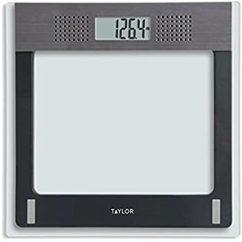 Charmant Taylor Electronic Glass Talking Bathroom Scale, 440 Lb. Capacity