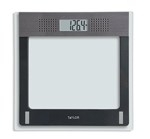 Scale Electronic Bath Digital (Taylor Electronic Glass Talking Bathroom Scale, 440 Lb. Capacity)