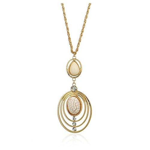 Christmas GERGER BO Christmas Diamond Alloy Hollow Atmosphere Necklace(White)